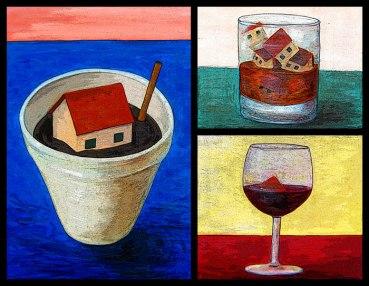 '(Dis)comforts,' 2014. Oil on canvas + digital.