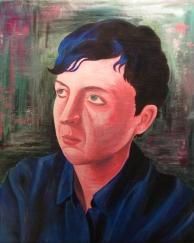 Self portrait in style of Jody Hewgill.