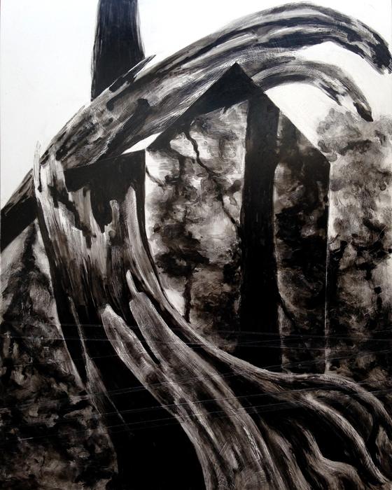 "'Sanctum,' 2015. 8""x10"", ink on clayboard."